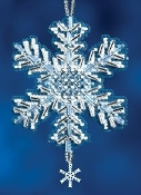 Mill Hill Ice Crystal Christmas Beaded Ornament counted cross stitch kit