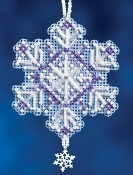 Mill Hill Amethyst Crystal Christmas Beaded Ornament Counted Cross Stitch kit