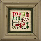 Lizzie Kate Falalalala Christmas counted cross stitch chart, linen and embellishments