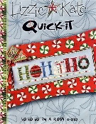 Lizzie Kate Quick-It Ho Ho Ho in a Row Christmas counted cross stitch pattern