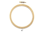Darice Four inch, 4 inch round wood embroidery hoop
