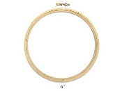 Darice 6 inch Round Wood Embroidery Hoop, frame