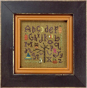 Lizzie KateQuick-It Sampling Halloween counted cross stitch chart with ghost charm