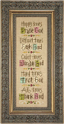 Lizzie Kate Time For God counted cross stitch pattern