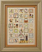 Lizzie Kate Autumn Alphabet counted cross stitch pattern chart