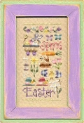 Lizzie Kate Easter Sampler  #111 Cross Stitch Chart with Charms