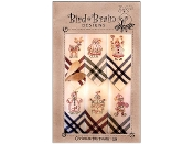 Bird Brain Designs Christmas Tea Towels hand embroidery patterns