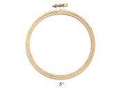 Darice 5 inch round wood embroidery hoop