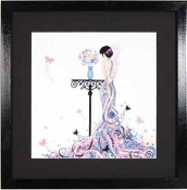 Lanarte - Butterfly Girl - counted cross stitch picture kit