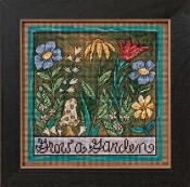 Mill Hill Sticks Grow A Garden beaded counted cross stitch kit