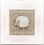 Lanarte Little Sheep counted cross stitch kit