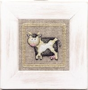 Lanarte Little Cow counted cross stitch kit