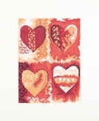 Lanarte Multi Colour Hearts counted cross stitch kit