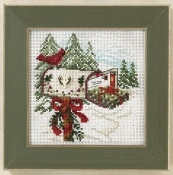 Mill Hill Winter Series Holiday Delivery counted cross stitch kit