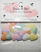 Dress It Up Craft, scrapbooking, sewing buttons, Candy Kisses Valentine conversation hearts