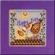 Mill Hill Buttoned Beaded Happy Day Chicks counted cross stitch kit