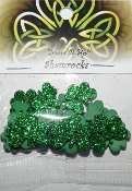 Dress It Up craft buttons Shamrocks - scrapbooking, sewing, needlework