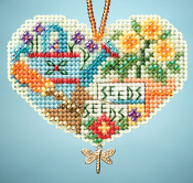 Mill Hill Charmed ornaments Love Gardening beaded counted cross stitch kit