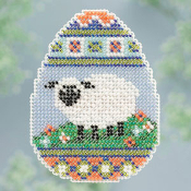 Mill Hill Spring Bouquet Sheep Egg Easter ornament cross stitch kit