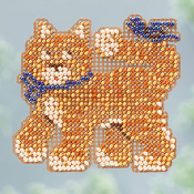 Mill Hill Spring Collection Cool Cat ornament cross stitch kit