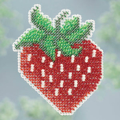 Mill Hill Spring Bouquet Collection, Strawberry counted cross stitch kit