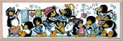 Design Works, Rub-A-Dub Penguins Counted Cross Stitch Kit