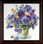 Design Works - Pansy Floral - Counted Cross Stitch Picture Kit
