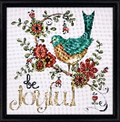 Design Works Crafts Be Joyful counted cross stitch picture kit