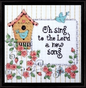 Design Works Crafts A New Song beaded counted cross stitch kit