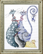 Design Works, Cat Pack Counted Cross Stitch Picture Kit