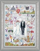 Design Works Crafts counted cross stitch picture kit - Wedding ABC 2734 - sampler, wedding announcement