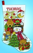 Design Works Making New Friends Christmas counted cross stitch Stocking kit