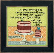 Mill Hill Curly Girl Design - Cake Required beaded counted cross stitch kit