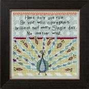 Mill Hill Curly Girl Design, Peacock inspirational beaded counted cross stitch kit
