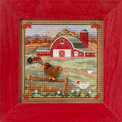 Mill Hill Autumn series Country Morning beaded counted cross stitch kit