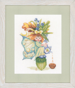 Lanarte Maria Van Scharrenburg Cross Stitch Kit - Acorn Girl