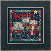 Mill Hill Buttons Beads - Winter Series Who Trio Owls Christmas beaded counted cross stitch kit