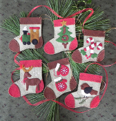 Rachel's of Greenfield Warm Feet Ornaments - Christmas embroidery kit