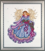 Design Works Crafts Winter Angel counted cross stitch Christmas picture kit