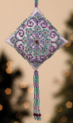 Mill Hill Tiny Treasured Diamond Beaded counted cross stitch kit with treasures, Royal Orchid