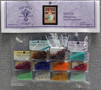 Mirabilia Designs Persephone MD127E embellishment pack, Mill Hill Beads