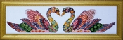 Design Works Crafts Swan Love beaded counted cross stitch picture kit