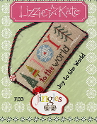 Lizzie Kate Jingles Flip-It Joy to the World F133 Christmas counted cross stitch pattern with embellishment