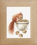 Lanarte Squirrel, Marjolein Bastin counted cross stitch kit