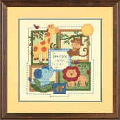 Dimensions Counted cross stitch picture kit - Savannah Birth Record