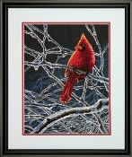 Dimensions Counted cross stitch picture kit - Ice Cardinal