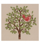Bucilla Red Bird on Tree counted cross stitch kit
