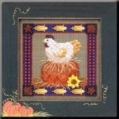 Mill Hill Buttoned and Beaded - Henrietta Harvest MHCB199 counted cross stitch kit