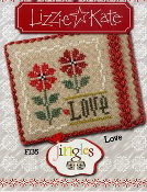 Lizzie Kate Jingles Flip-It Love F135 Christmas counted cross stitch pattern with embellishment