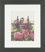 Lanarte Backyard Beauties Chickadee counted cross stitch kit